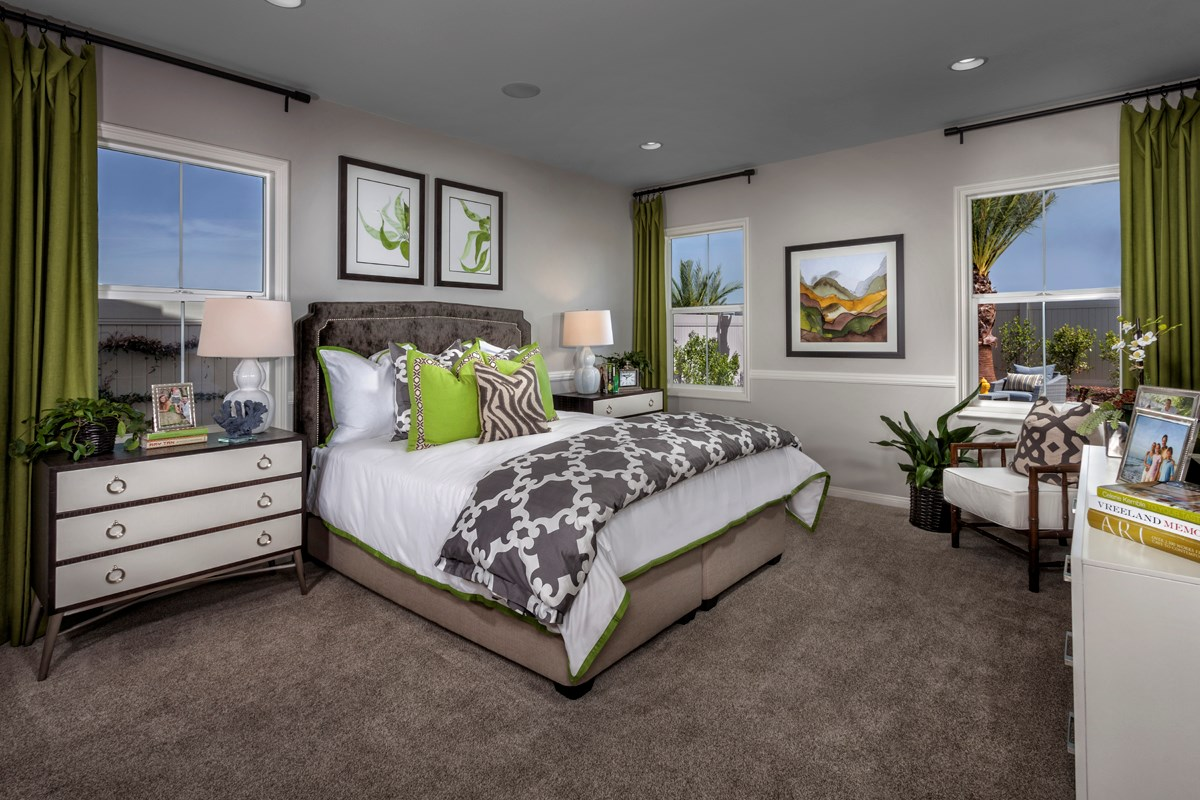 New Homes in Menifee, CA - Silvercreek at Audie Murphy Ranch Residence 1698 Master Bedroom
