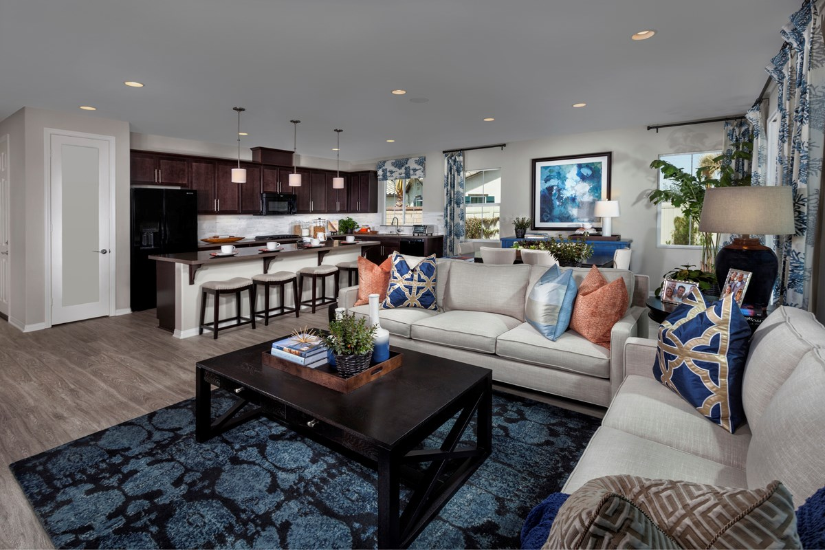 New Homes in Menifee, CA - Silvercreek at Audie Murphy Ranch Residence 1860 Great Room