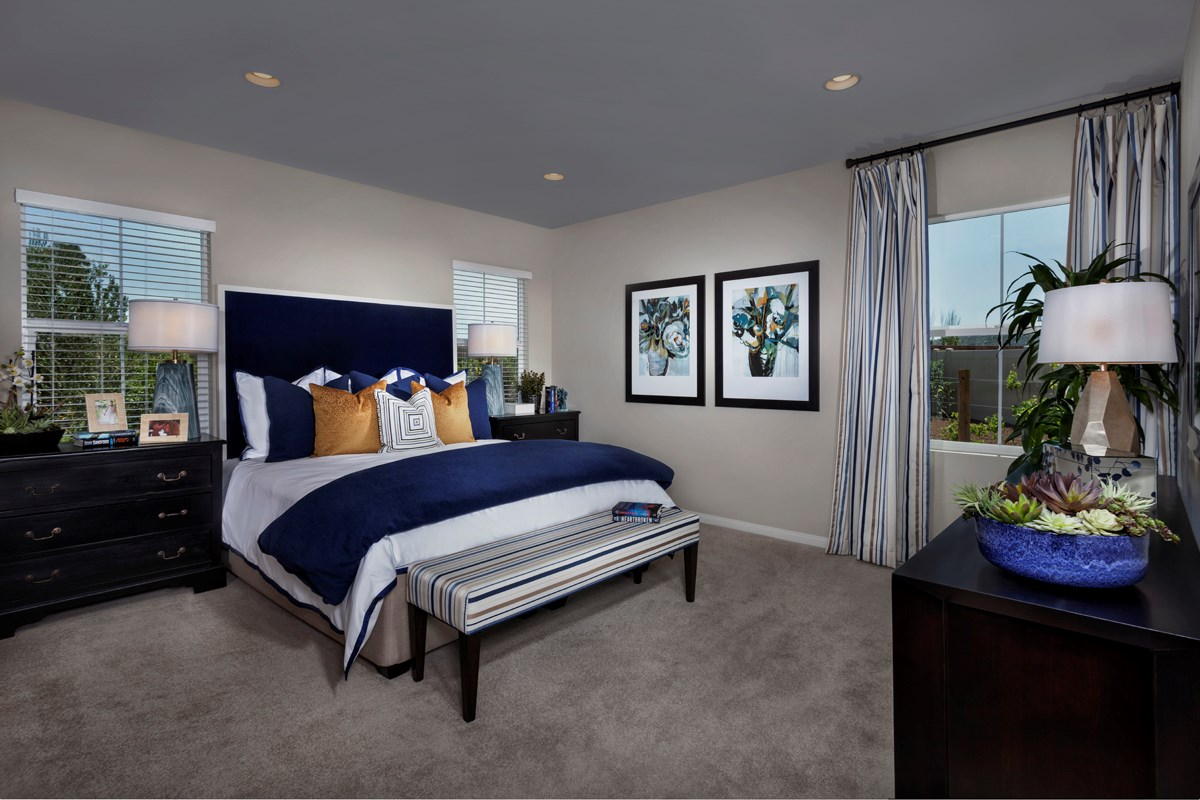 New Homes in Menifee, CA - Silvercreek at Audie Murphy Ranch Residence 1860 Master Bedroom