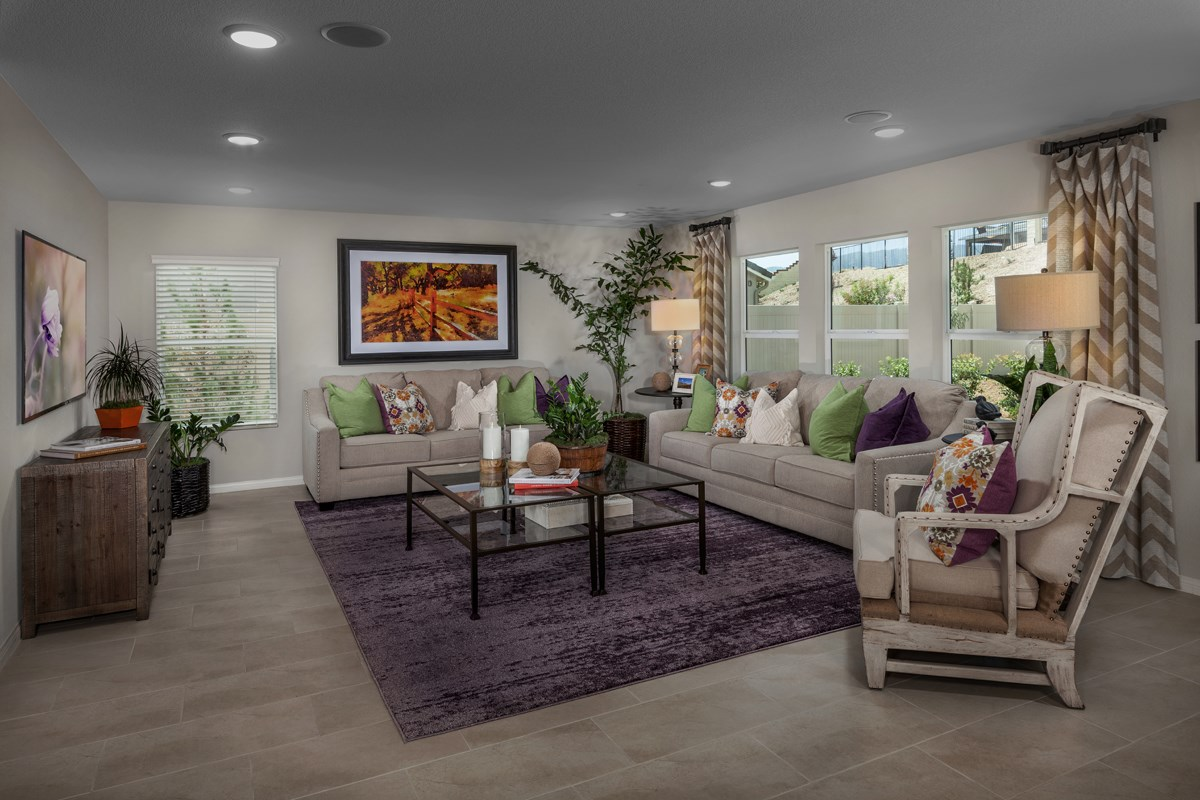 New Homes in Lake Elsinore, CA - Skypointe at Alberhill Ranch Residence 2537 - Great Room
