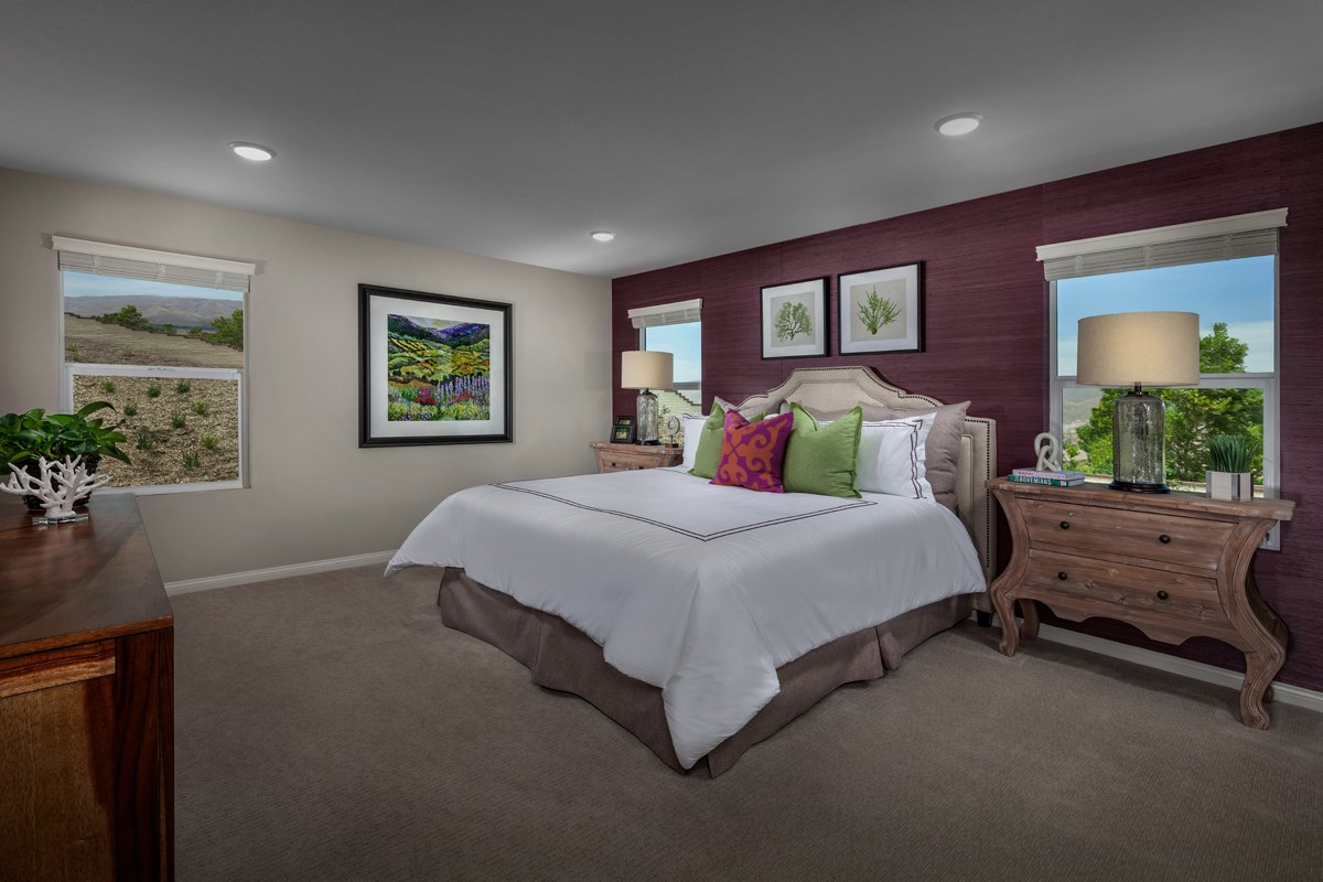 New Homes in Lake Elsinore, CA - Skypointe at Alberhill Ranch Residence 2537 - Master Bedroom