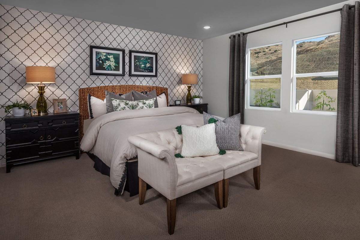New Homes in Corona, CA - Caraway at Terramor Residence One - Master Bedroom