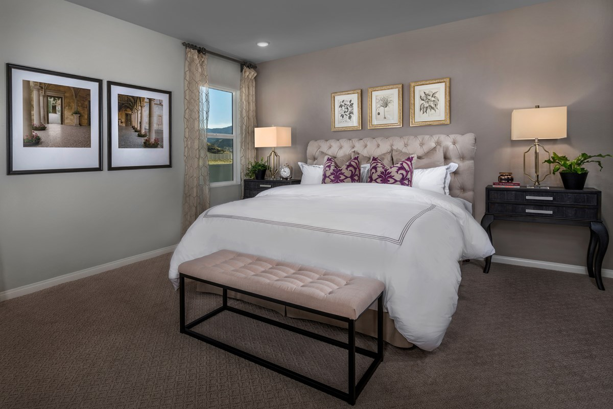 New Homes in Temescal Valley, CA - Sorrel at Terramor Residence Three - Master Bedroom