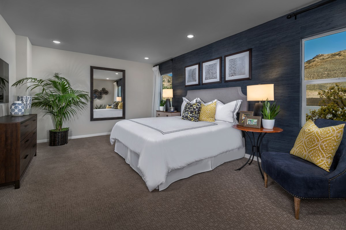 New Homes in Temescal Valley, CA - Sorrel at Terramor Residence Five - Master Bedroom