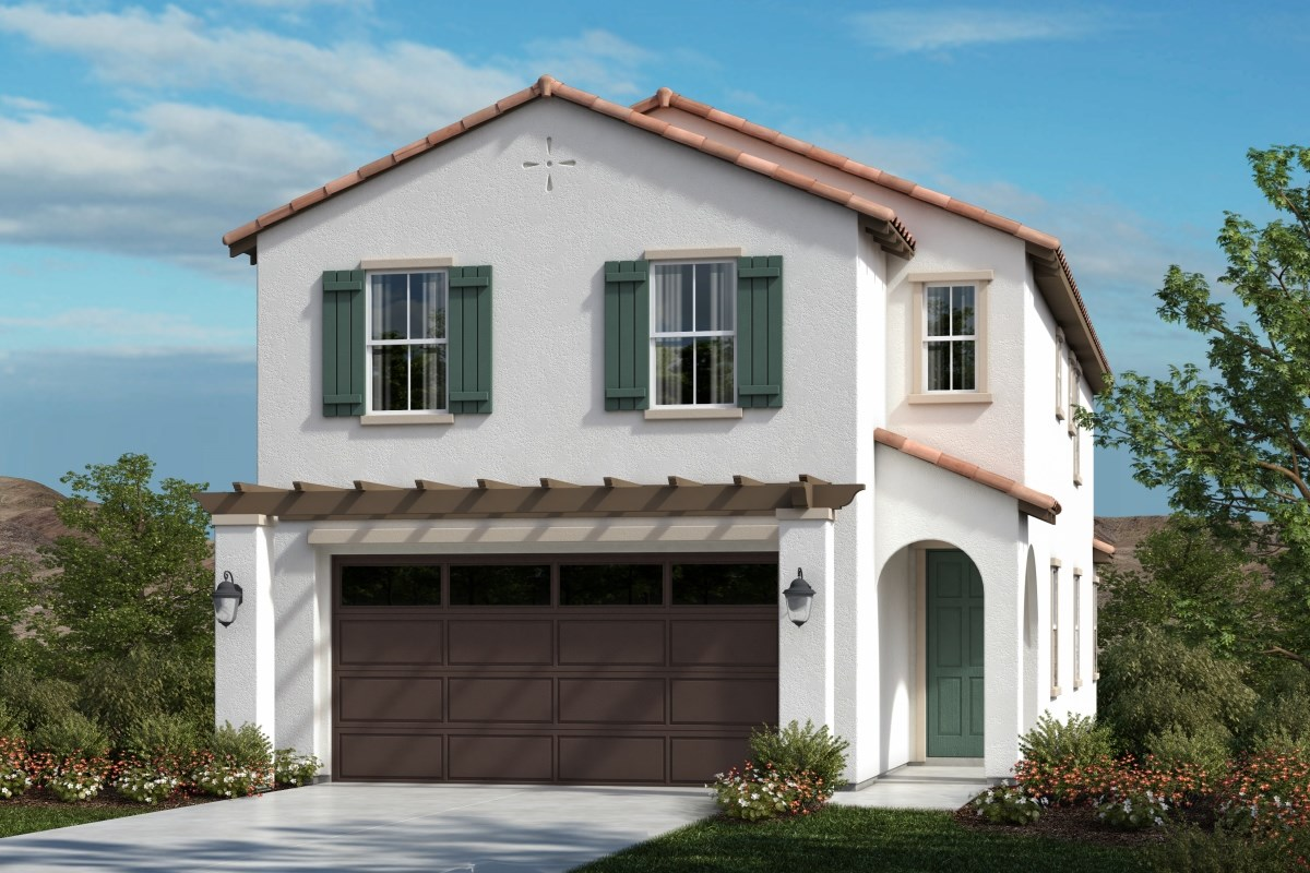 New Homes in Upland, CA - Springtime at Harvest Residence Four - Spanish Colonial 'A'