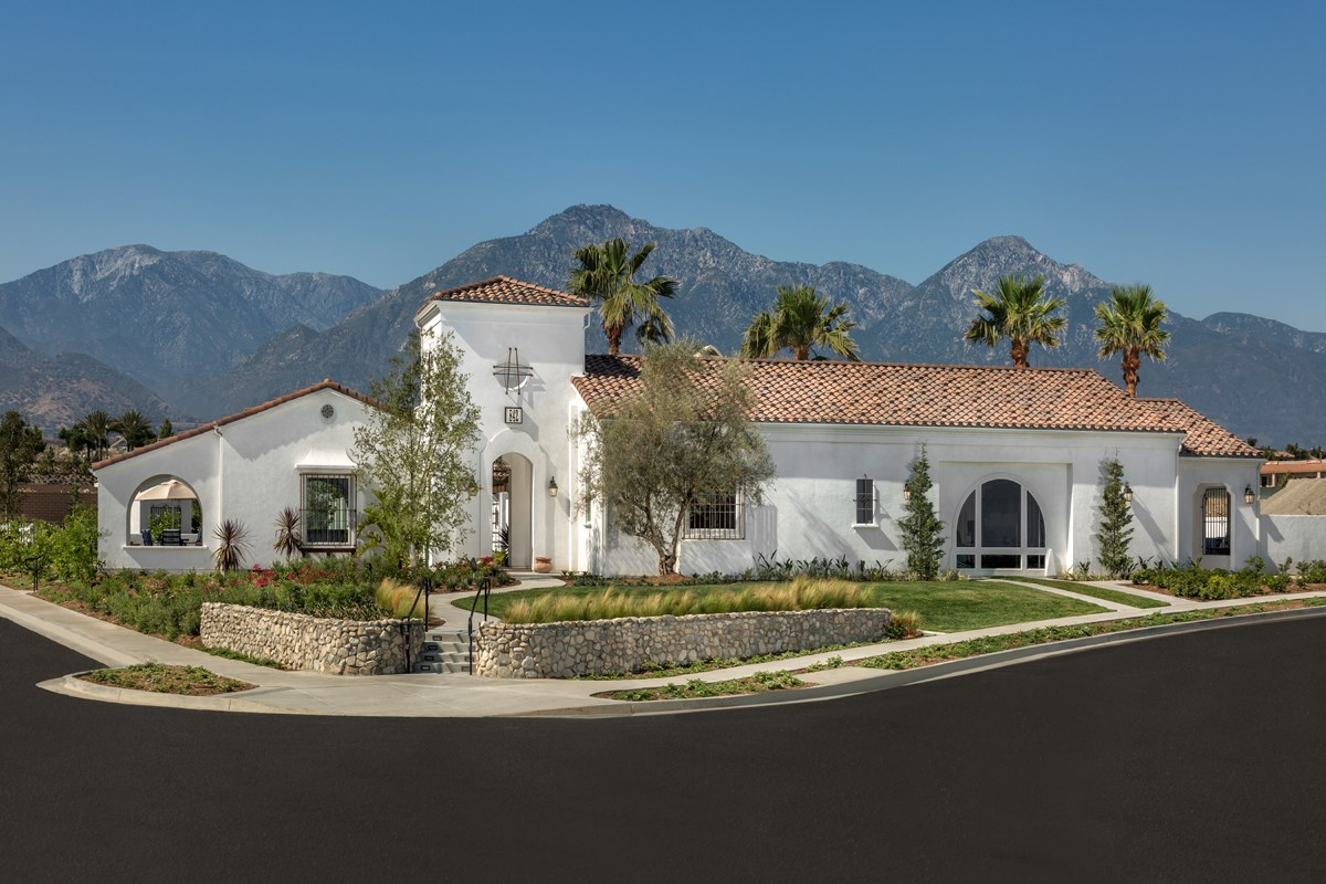 New Homes in Upland, CA - Springtime at Harvest Rec Center
