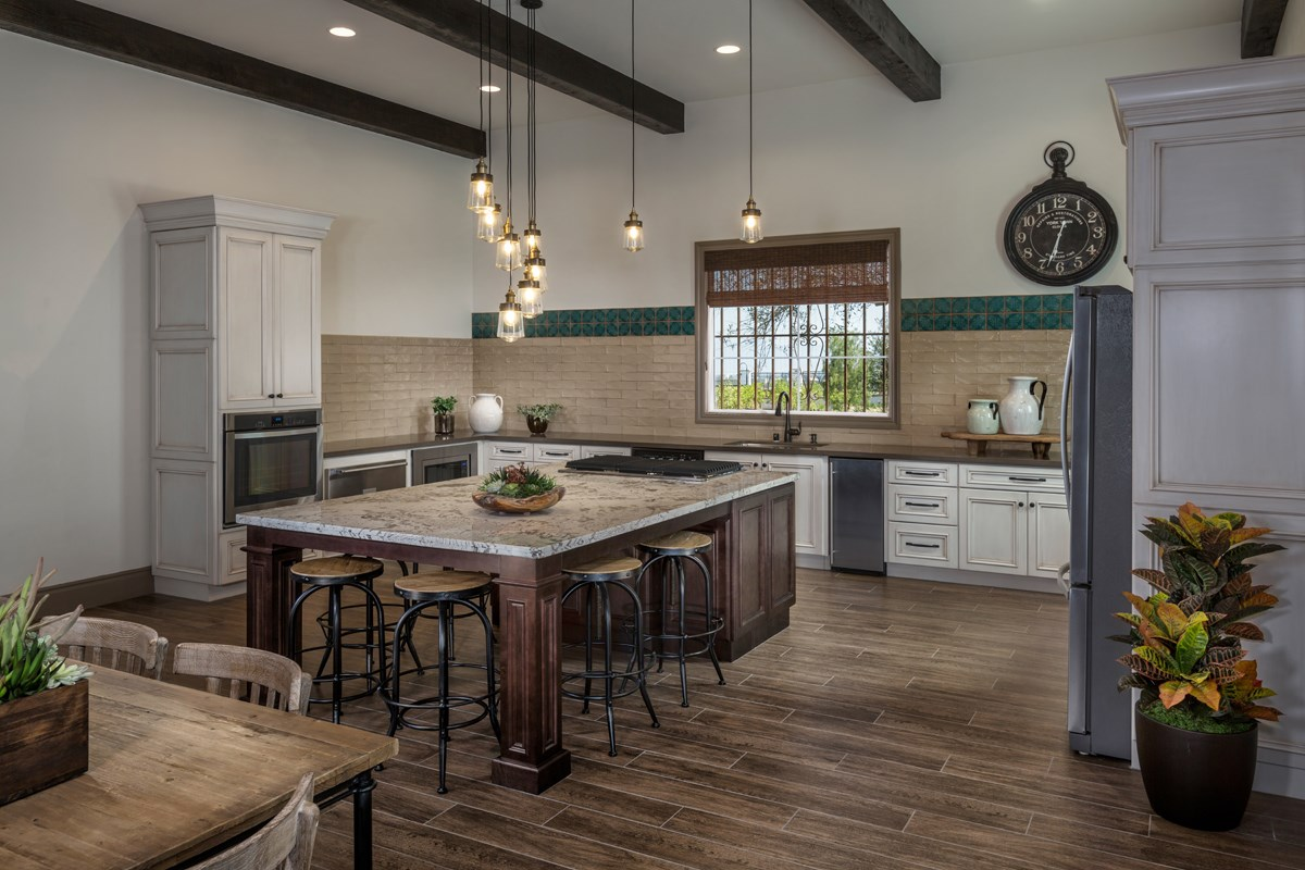 New Homes in Upland, CA - Springtime at Harvest Rec Center - Kitchen