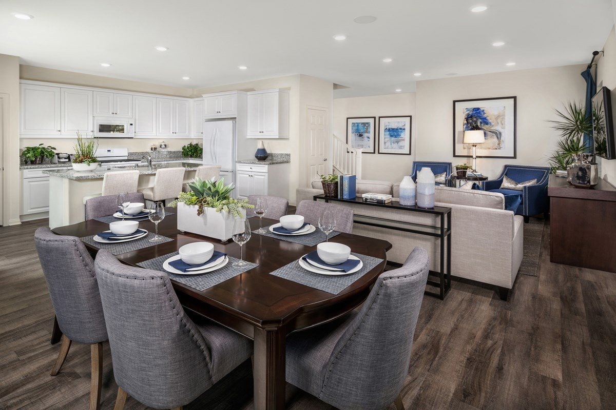 New Homes in Upland, CA - Springtime at Harvest Residence One - Great Room