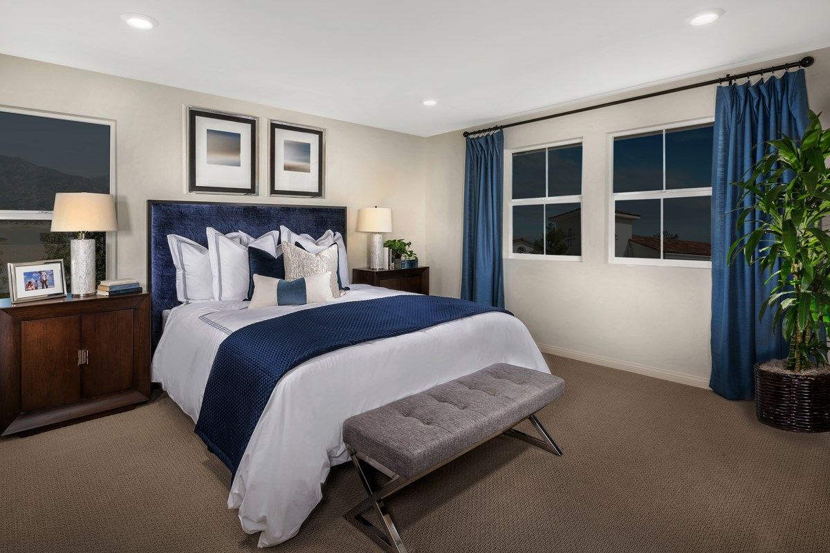 New Homes in Upland, CA - Springtime at Harvest Residence One - Master Bedroom