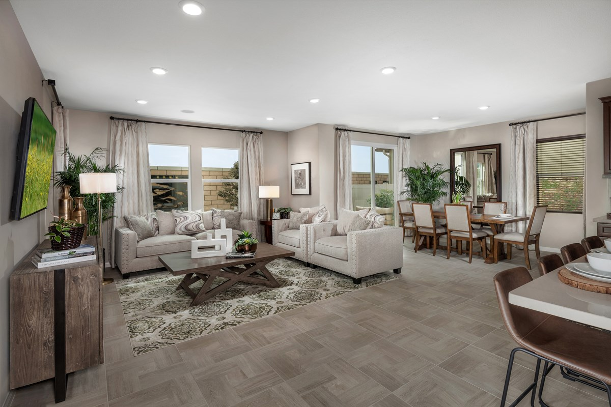 New Homes in Upland, CA - Springtime at Harvest Residence Two - Great Room