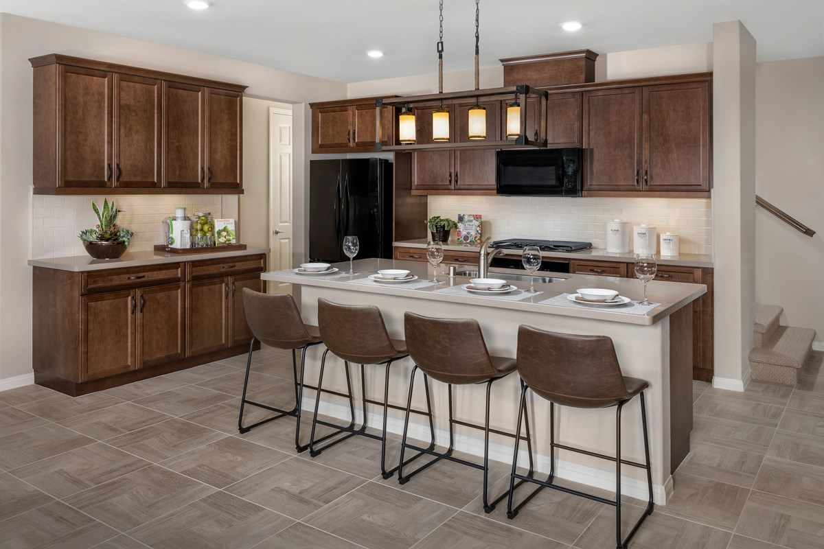 New Homes in Upland, CA - Springtime at Harvest Residence Two - Kitchen