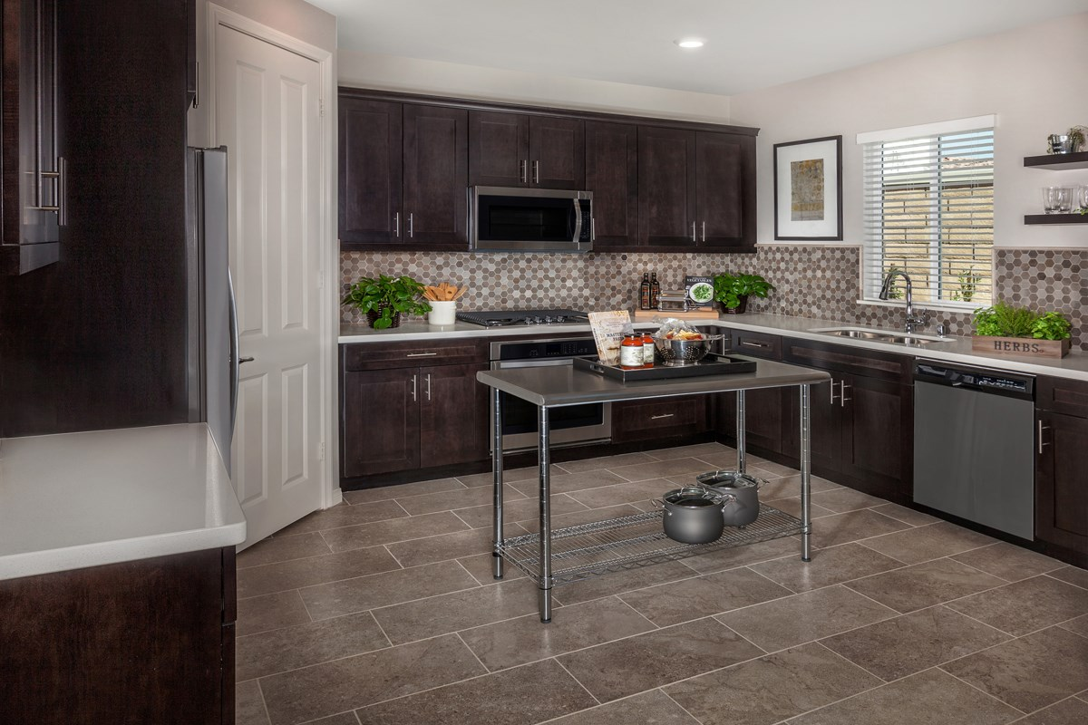 New Homes in Upland, CA - Springtime at Harvest Residence Three - Kitchen