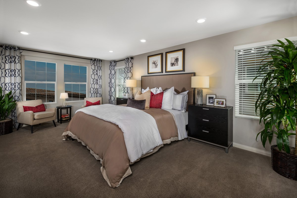 New Homes in Upland, CA - Springtime at Harvest Residence Three - Master Bedroom