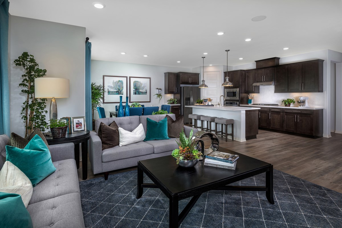 New Homes in Upland, CA - Springtime at Harvest Residence Four - Great Room