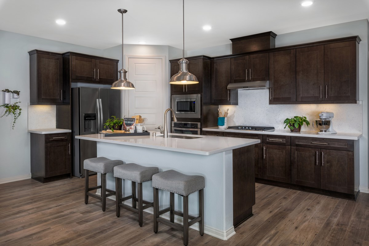 New Homes in Upland, CA - Springtime at Harvest Residence Four - Kitchen