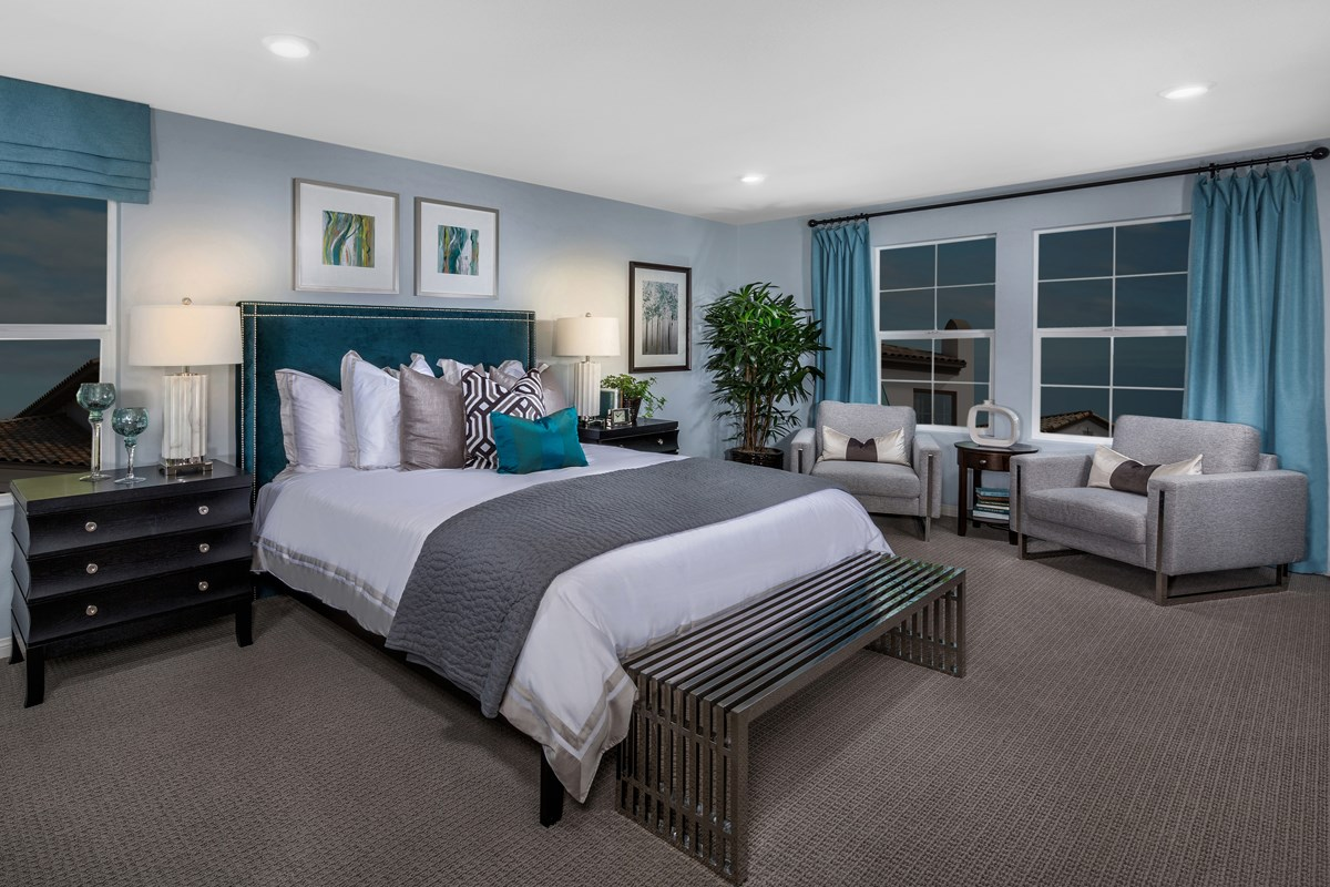 New Homes in Upland, CA - Springtime at Harvest Residence Four - Master Bedroom