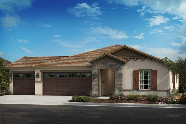 New Homes in Wildomar, CA - Cottage 'C' - Opt. Enlarged Garage