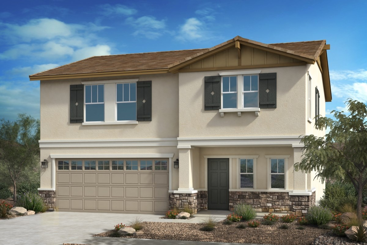 New Homes in Fontana, CA - Summit Crest Residence Two - Craftsman