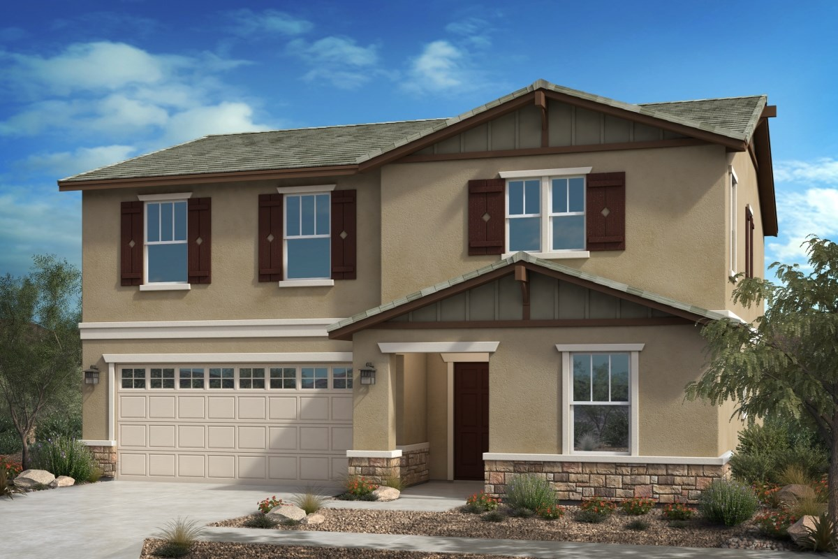 New Homes in Fontana, CA - Summit Crest Residence Three - Craftsman