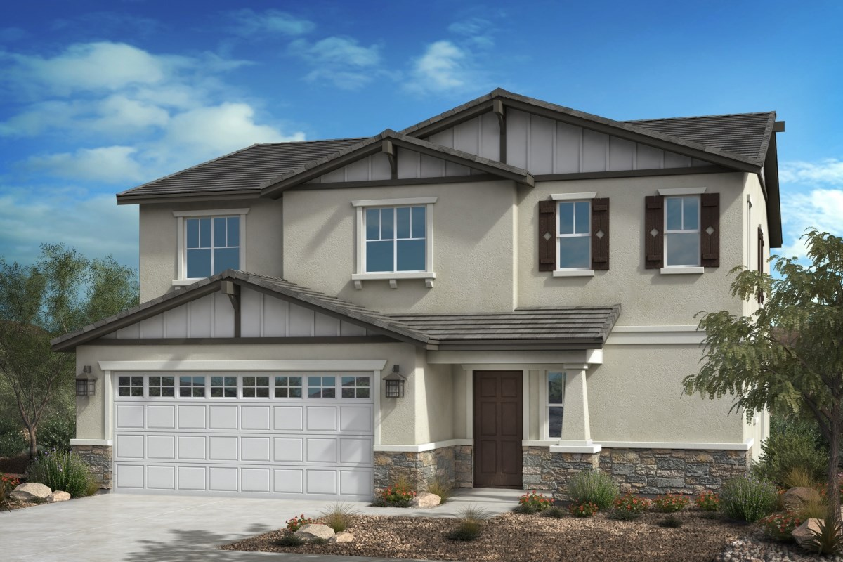 New Homes in Fontana, CA - Summit Crest Residence Four - Craftsman