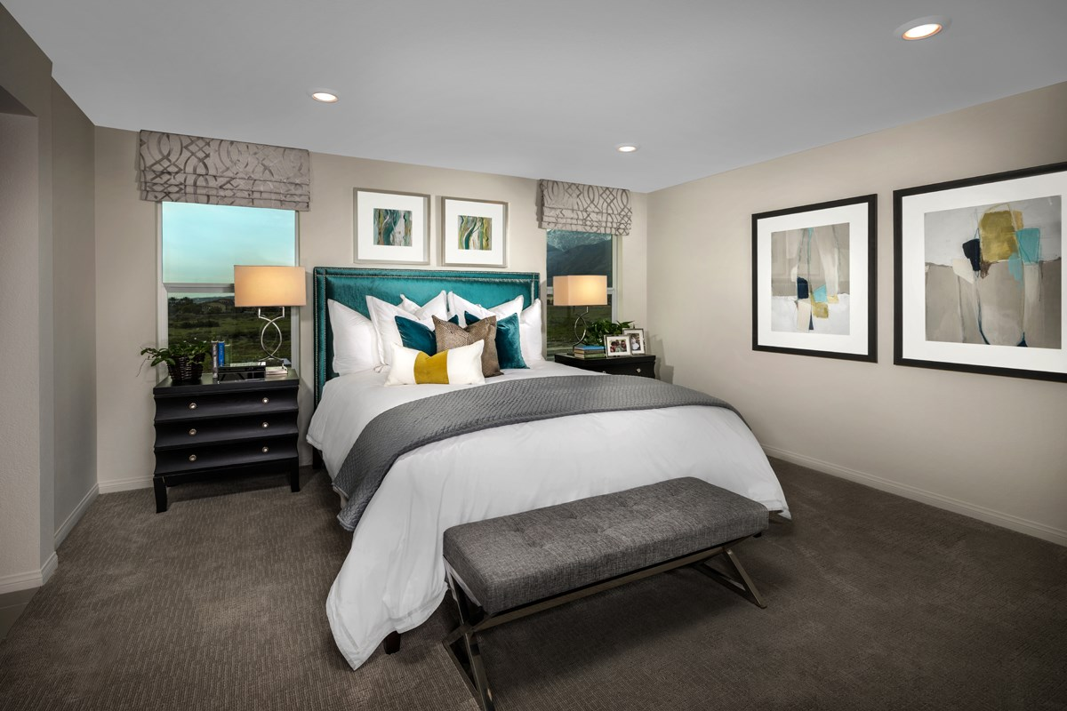 New Homes in Fontana, CA - Summit Crest Residence Two - Master Bedroom