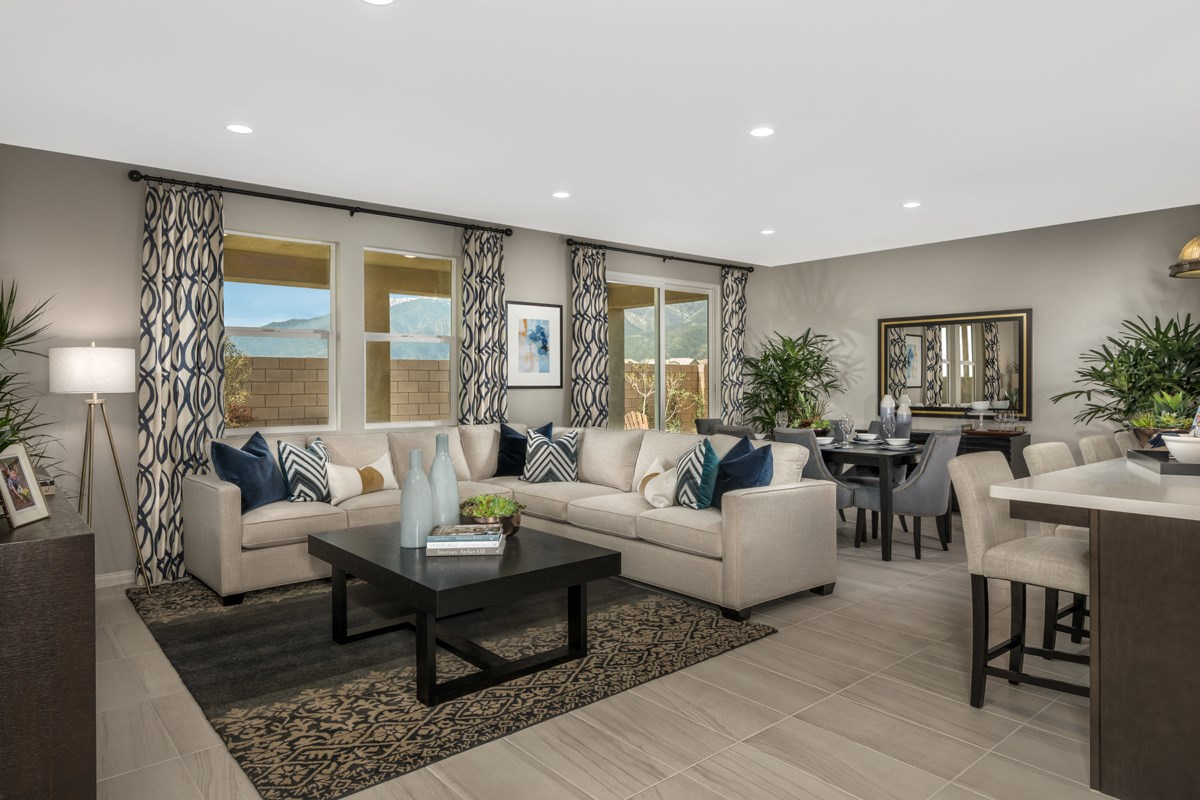 New Homes in Fontana, CA - Summit Crest Residence Four - Great Room