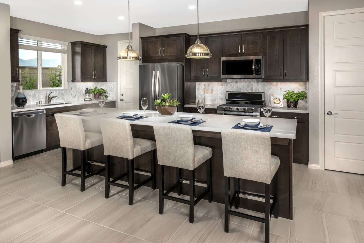 New Homes in Fontana, CA - Summit Crest Residence Four - Kitchen