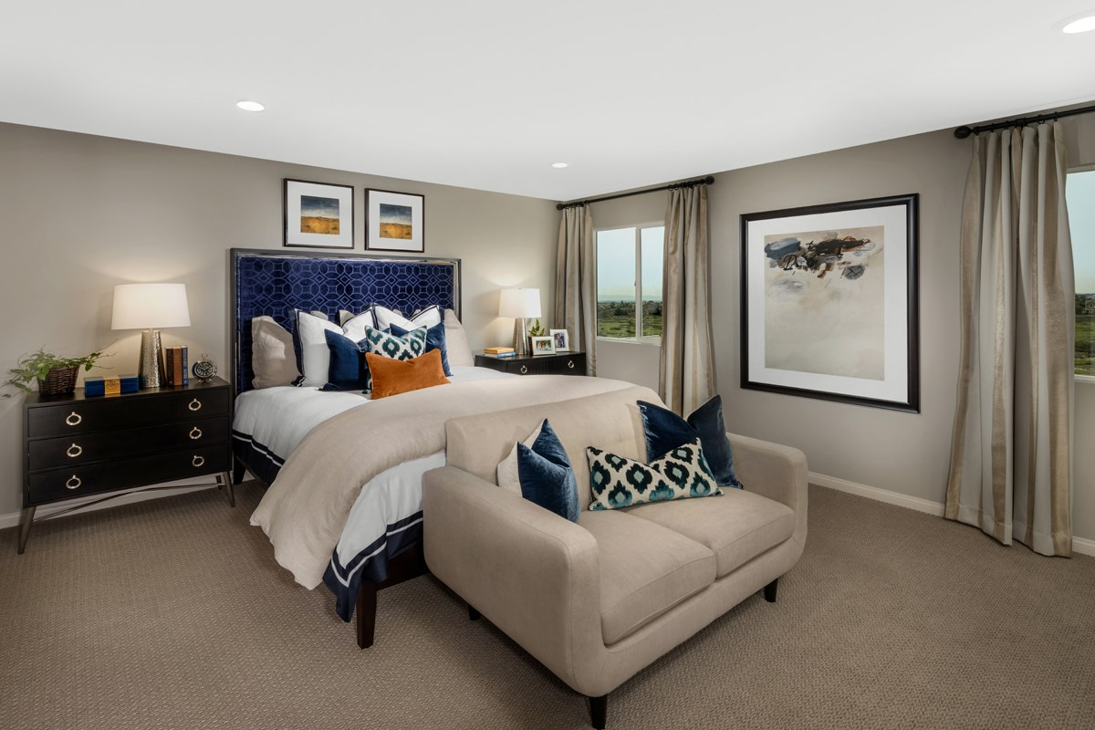 New Homes in Fontana, CA - Summit Crest Residence Four - Master Bedroom