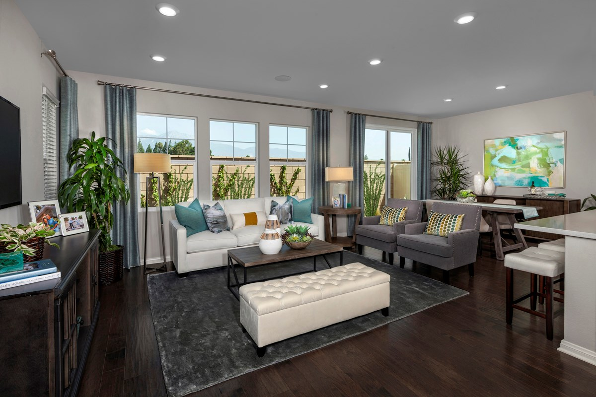 New Homes in Ontario, CA - The Cottages on 4th Residence 2174 - Great Room