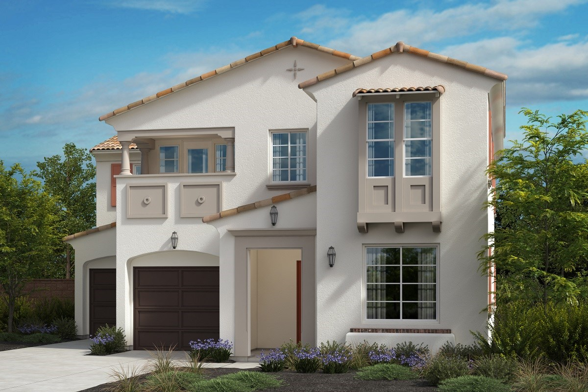 New Homes in North Fontana, CA - The Courts at El Paseo Residence 2436 - Spanish Colonial 'B'