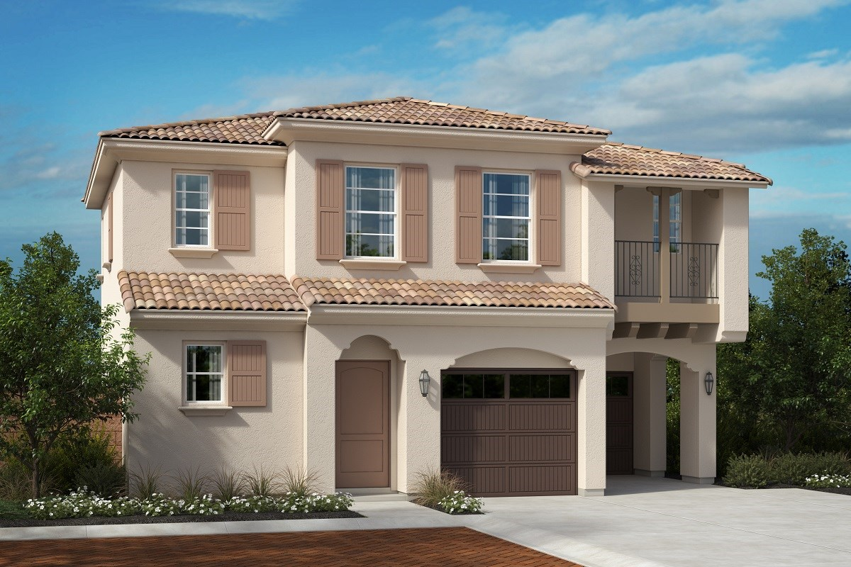 New Homes in North Fontana, CA - The Courts at El Paseo Residence 1872 - Santa Barbara 'A'