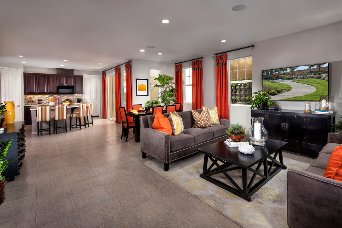 New Homes in Eastvale, CA - Elation at The Lodge Residence One - Great Room