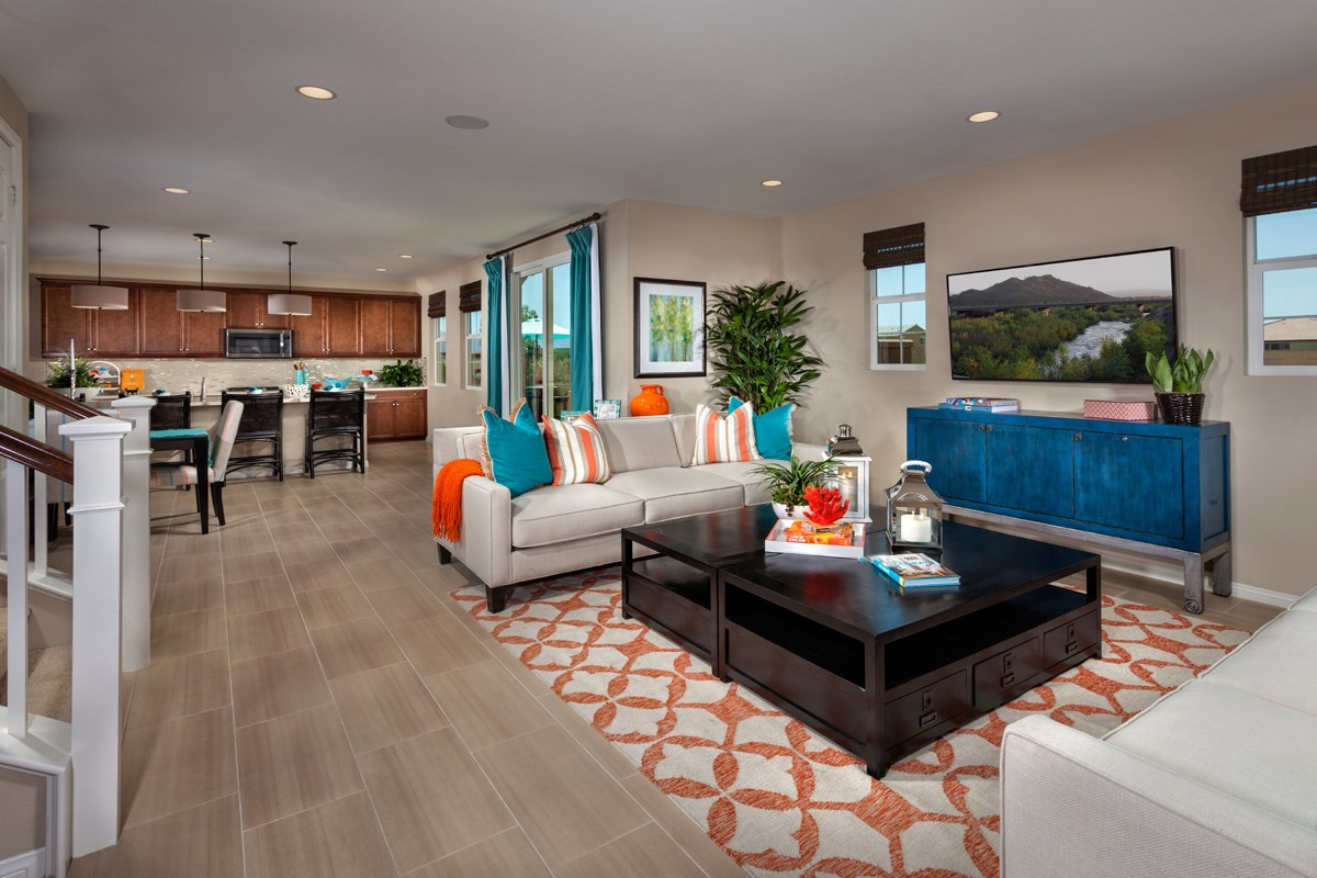 New Homes in Eastvale, CA - Elation at The Lodge Residence Two - Great Room