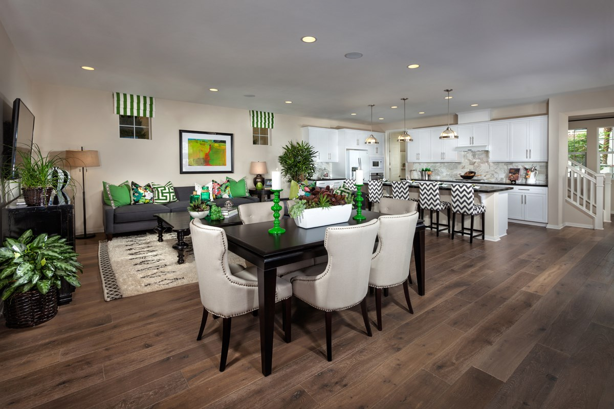 New Homes in Eastvale, CA - Elation at The Lodge Residence Three - Great Room