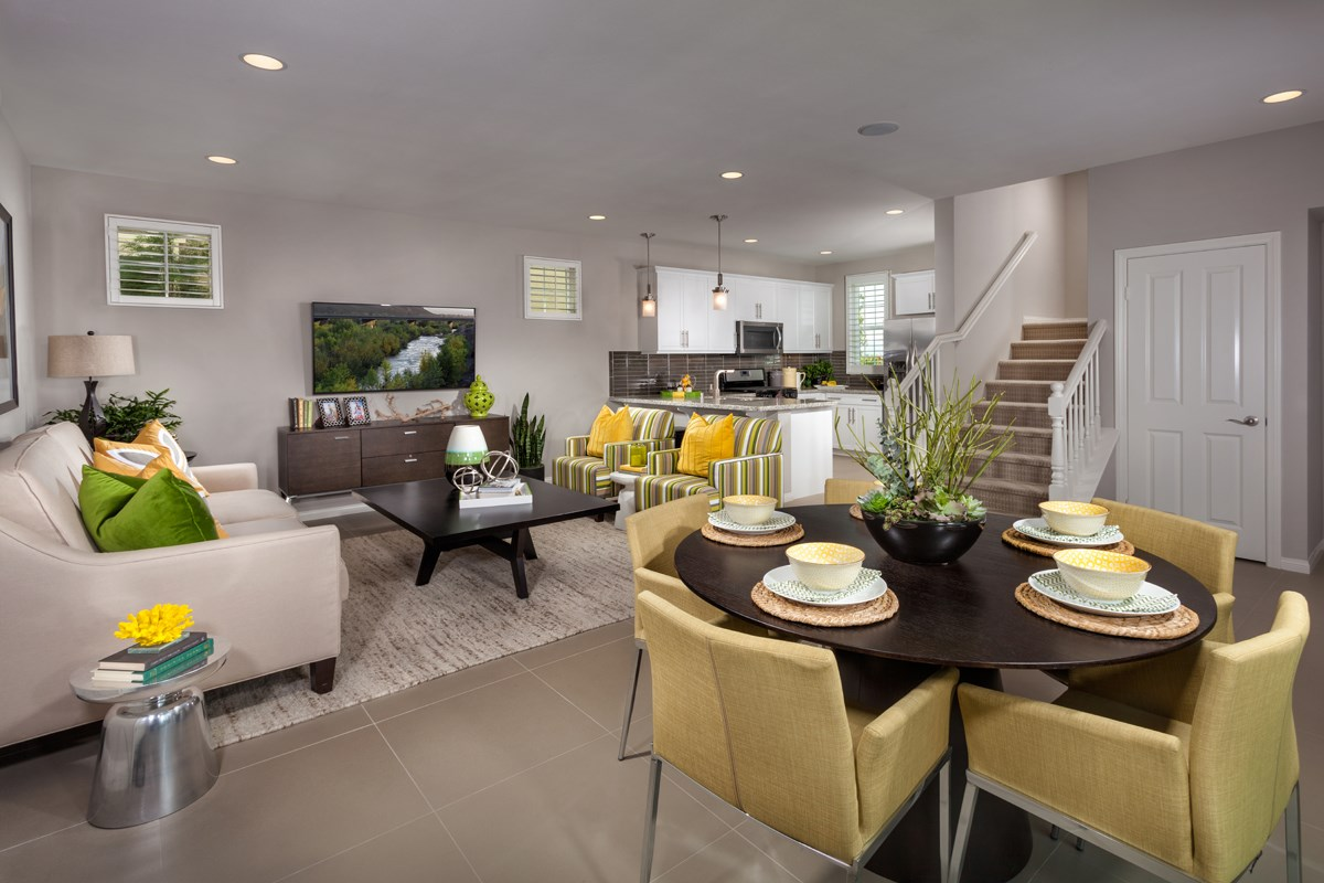 New Homes in Eastvale, CA - Harmony at The Lodge Residence One - Great Room