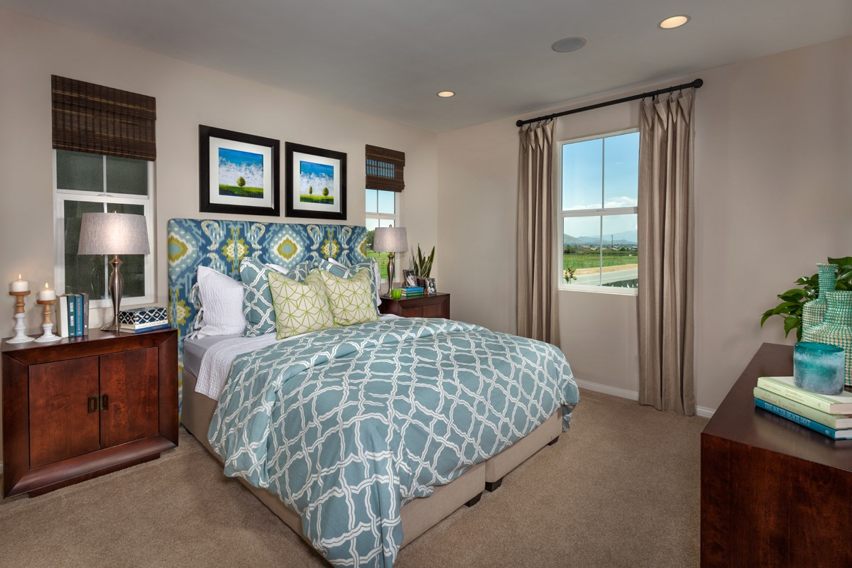 New Homes in Eastvale, CA - Harmony at The Lodge Residence Two - Master Bedroom