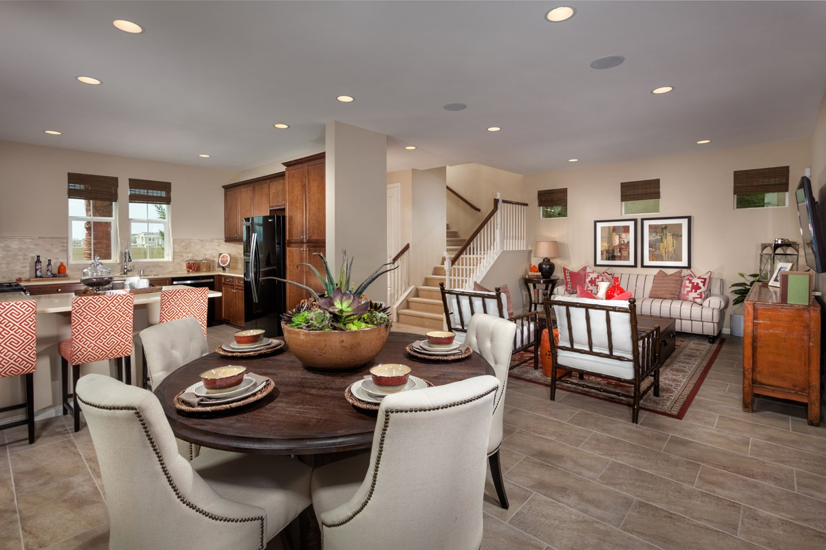 New Homes in Eastvale, CA - Harmony at The Lodge Residence Three - Great Room