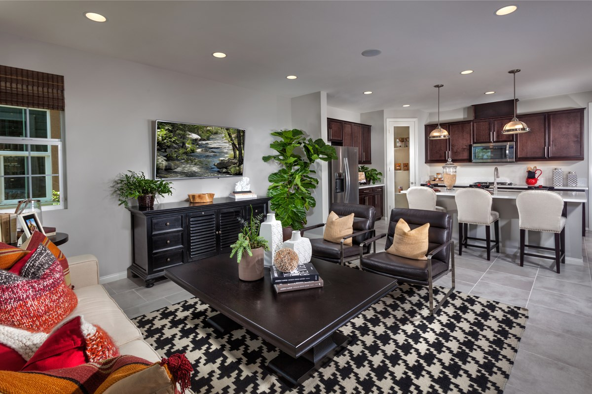 New Homes in Eastvale, CA - Harmony at The Lodge Residence Four - Kitchen