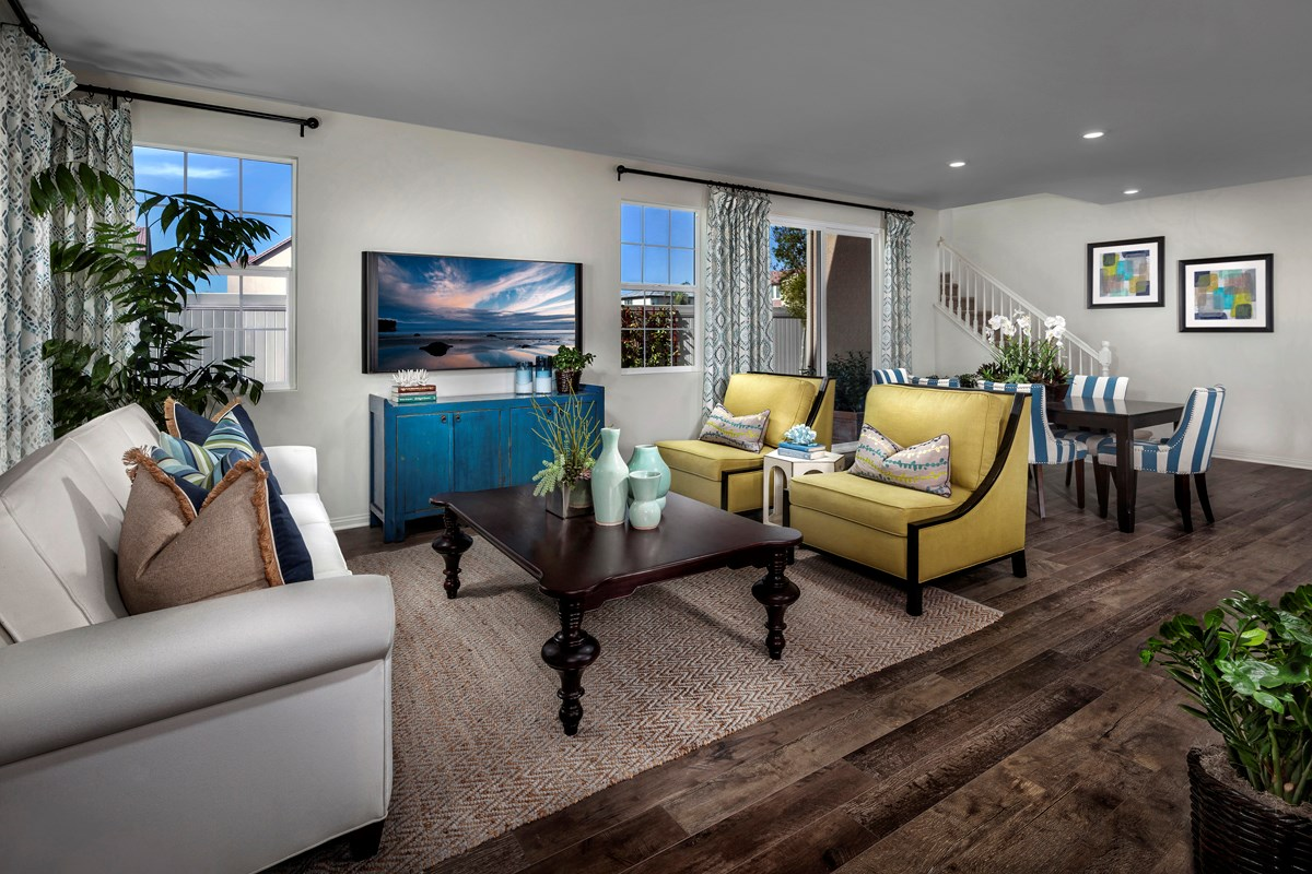 New Homes in Eastvale, CA - Symmetry at The Lodge Residence One - Great Room