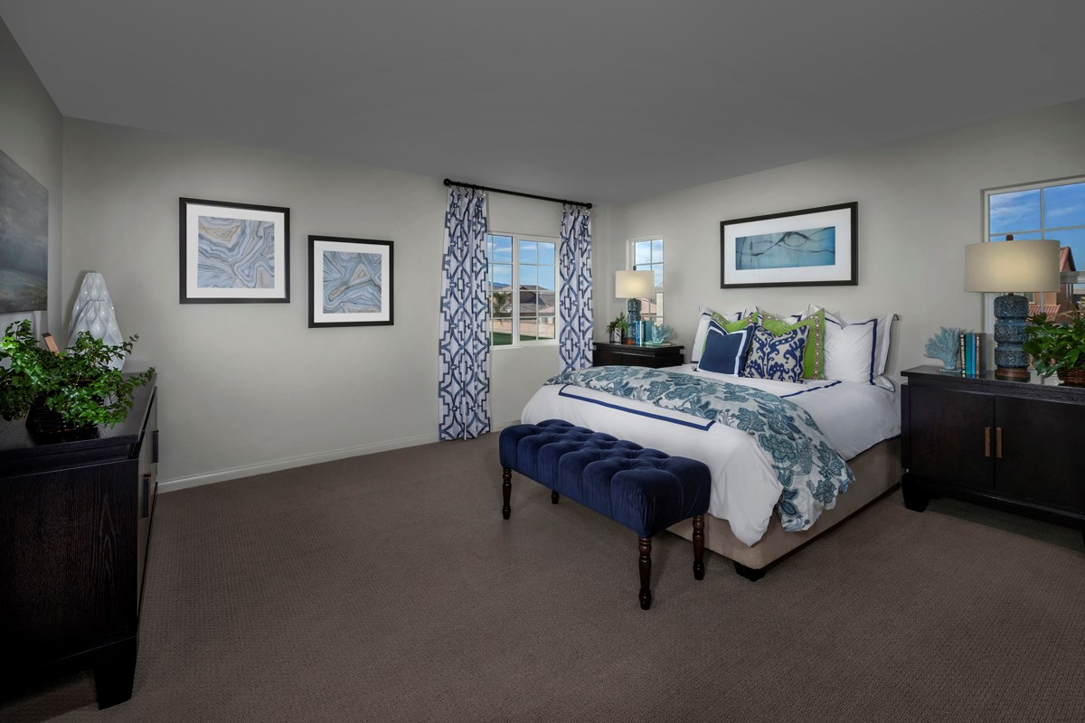 New Homes in Eastvale, CA - Symmetry at The Lodge Residence One - Master Bedroom
