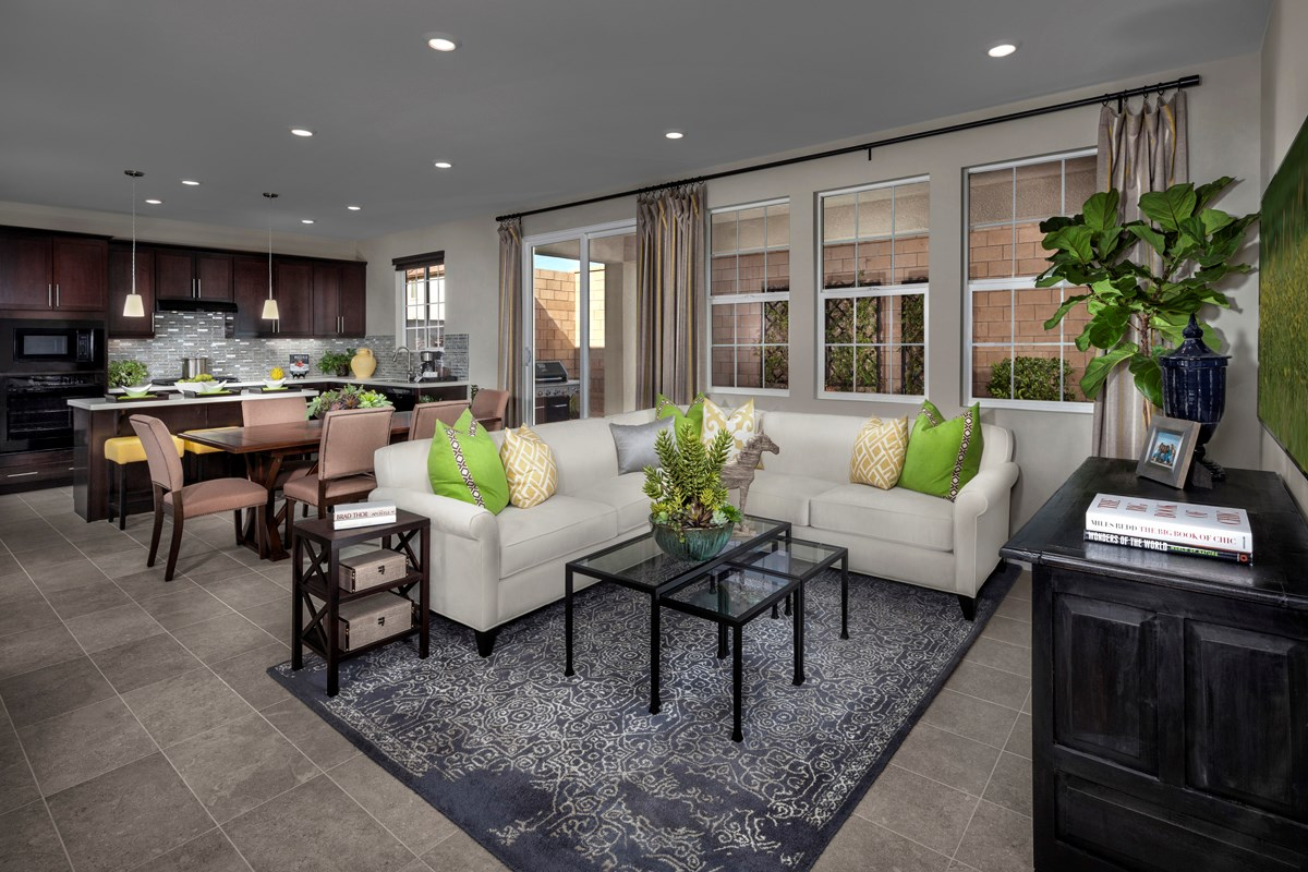 New Homes in Eastvale, CA - Symmetry at The Lodge Residence Two - Great Room