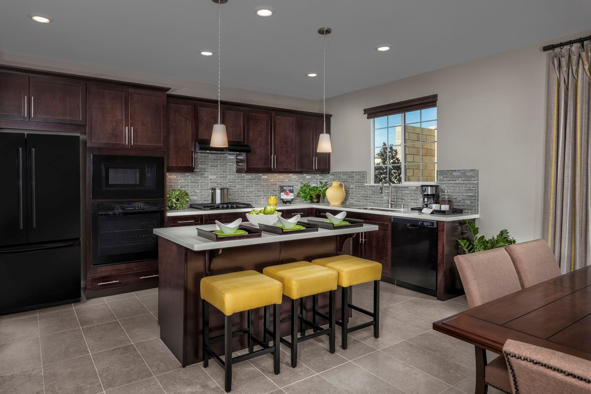 New Homes in Eastvale, CA - Symmetry at The Lodge Residence Two - Kitchen