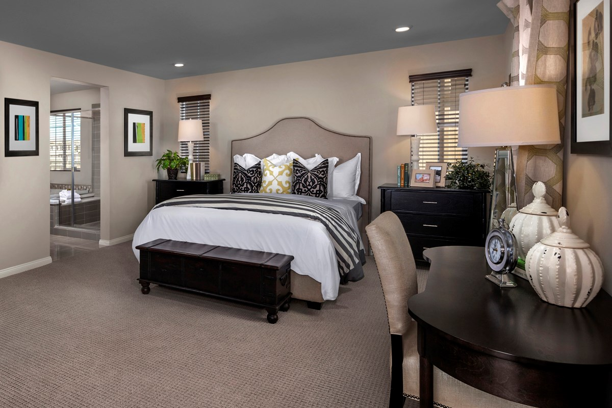 New Homes in Eastvale, CA - Symmetry at The Lodge Residence Two - Master Bedroom