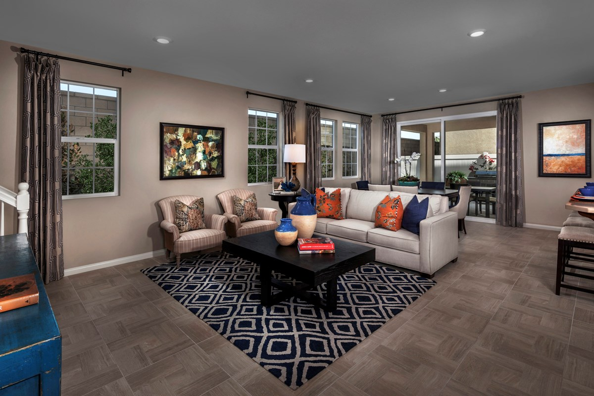 New Homes in Eastvale, CA - Symmetry at The Lodge Residence Three - Great Room