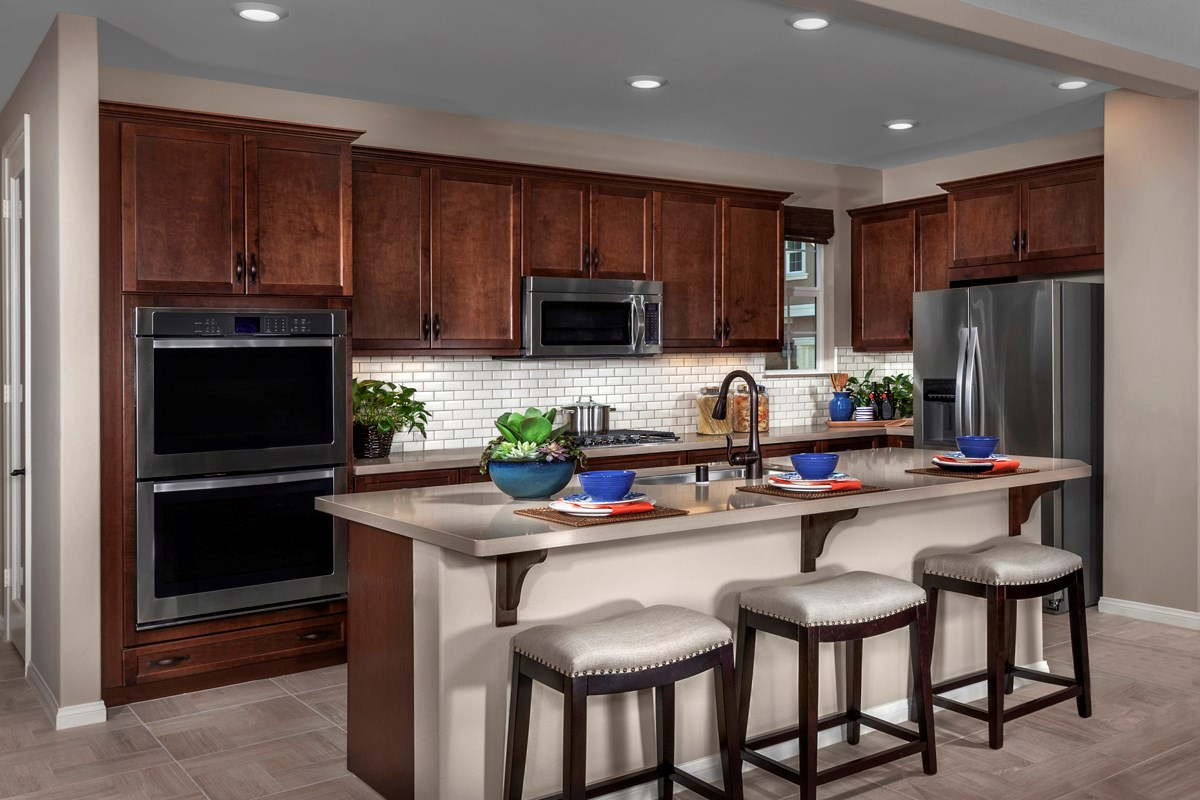 New Homes in Eastvale, CA - Symmetry at The Lodge Residence Three - Kitchen