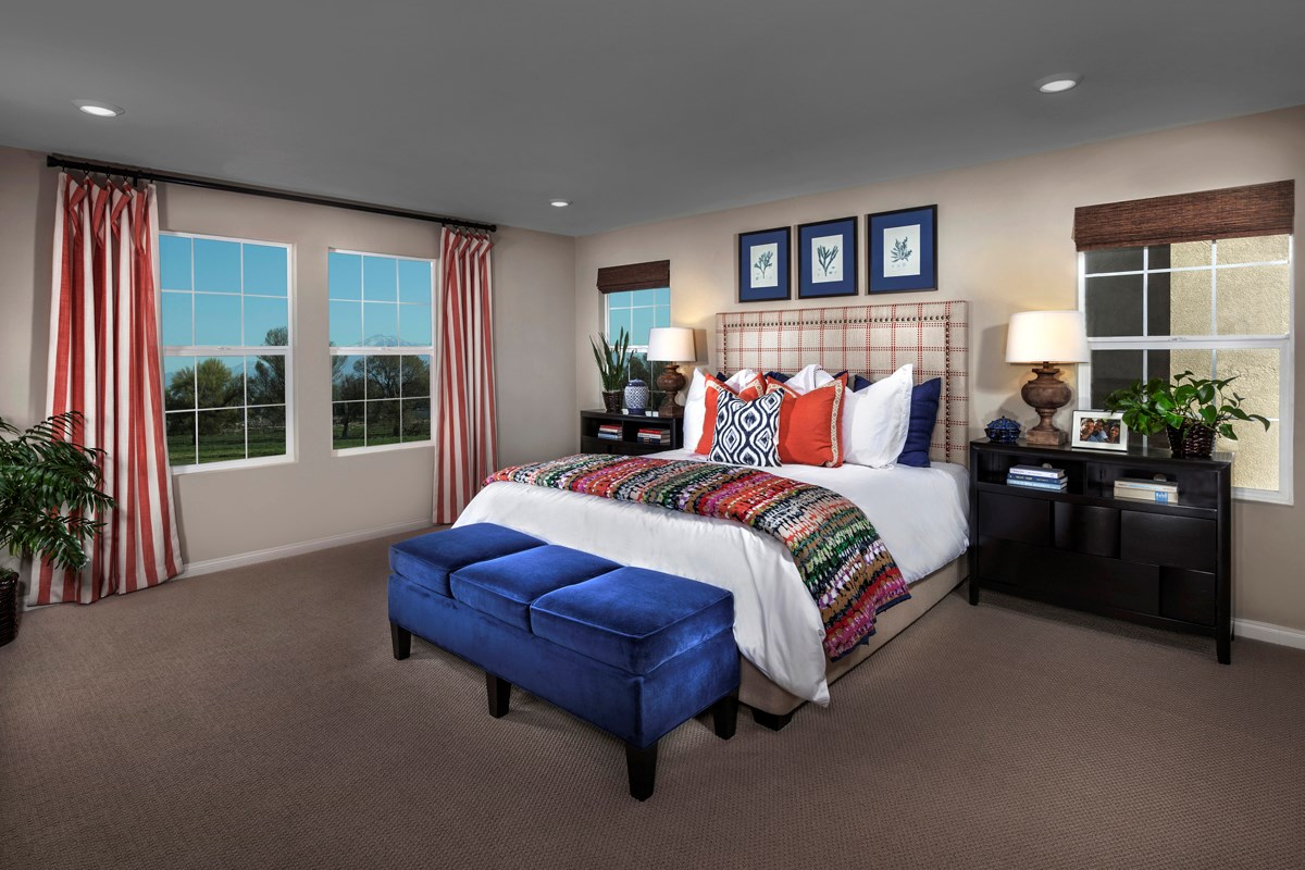 New Homes in Eastvale, CA - Symmetry at The Lodge Residence Three - Master Bedroom