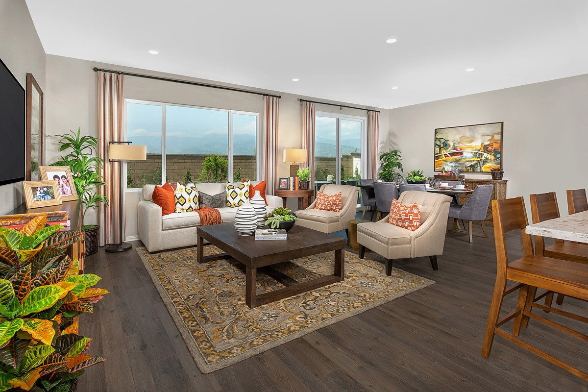 New Homes in Redlands, CA - The Meadows Residence 1853 - Great Room