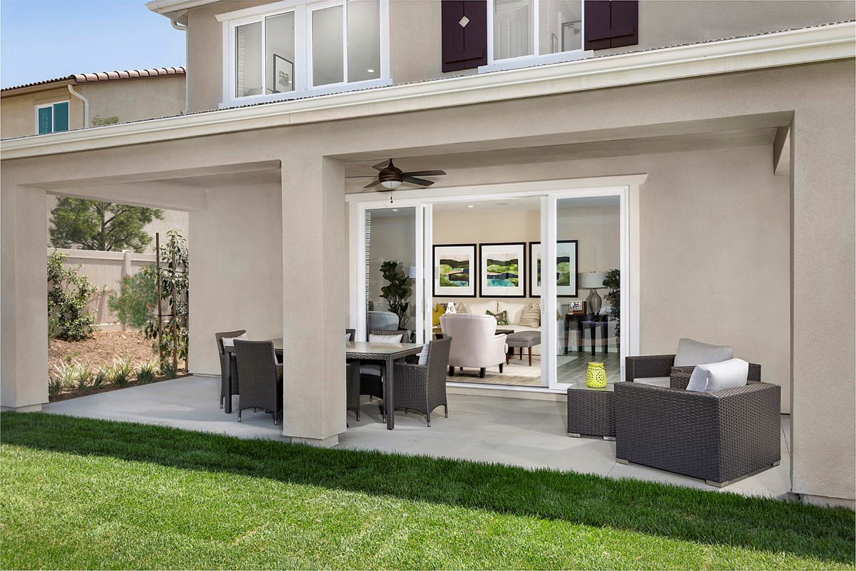 New Homes in Redlands, CA - The Meadows Residence 2537 - Patio