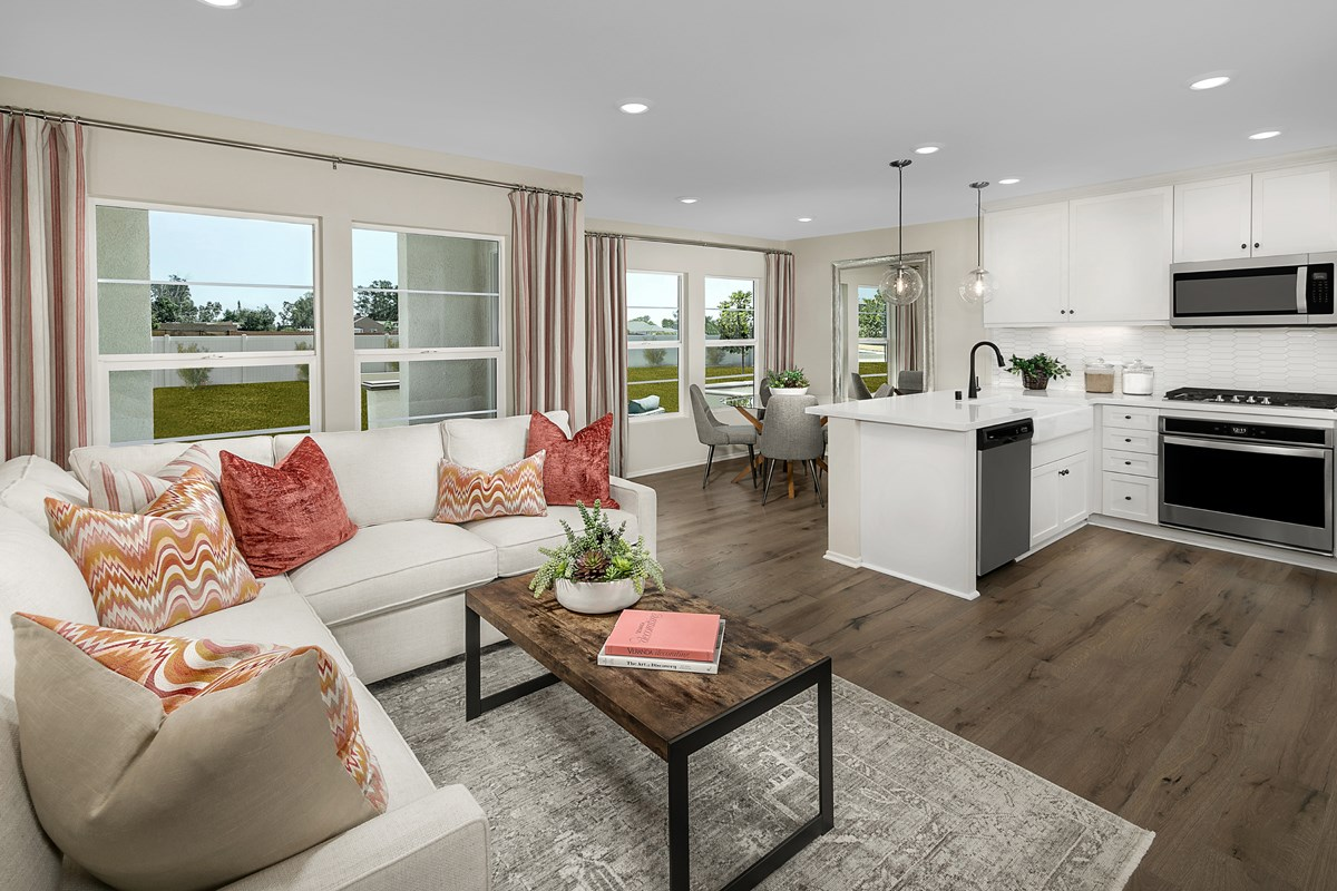 New Homes in North Fontana, CA - The Towns at El Paseo Residence One - Great Room