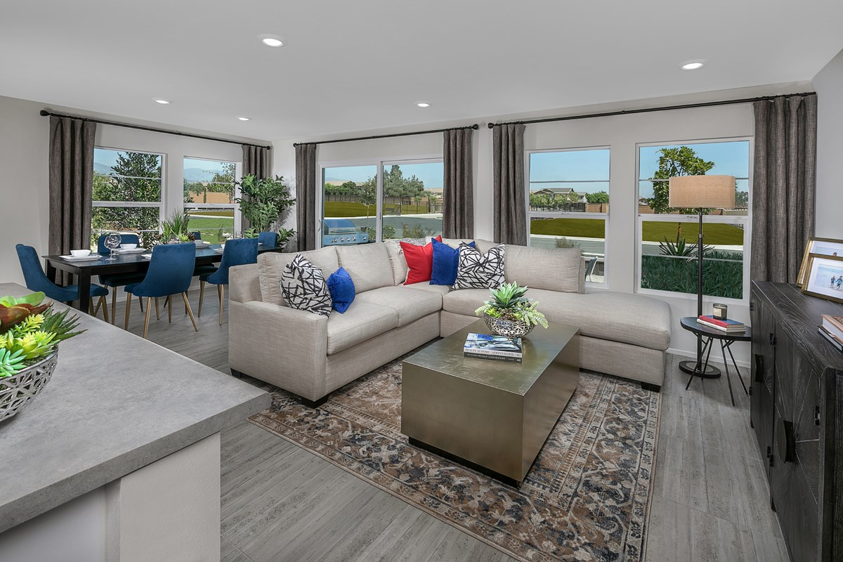 New Homes in North Fontana, CA - The Towns at El Paseo Residence Four - Great Room